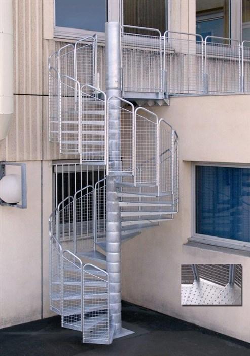 Célèbre Escalier de secours métallique sur mesure aux normes KL42